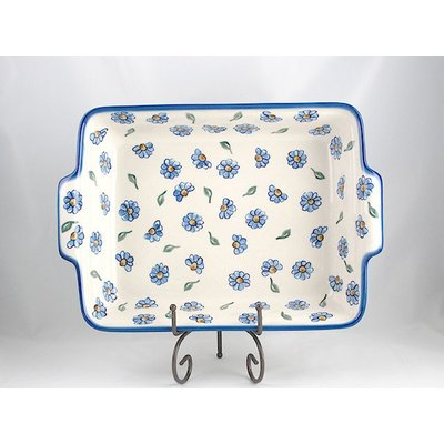 Painted Daisy Rectangular Baker - Lrg