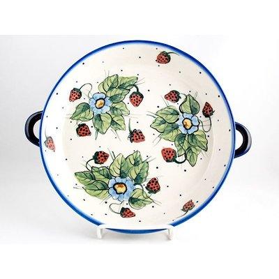 Berries & Cream Round Baker w/ Handles