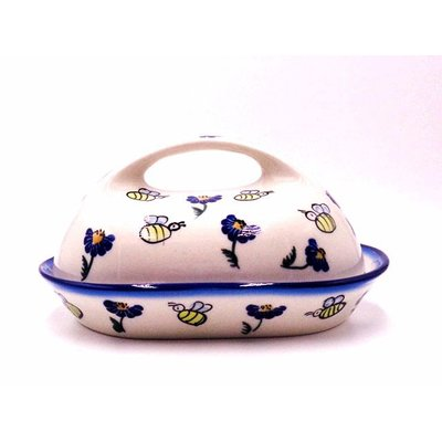 Bee-Dazzled Butter Dish w/ Handle
