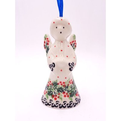 "CA  Holly Berry 3 1/2"" Angel Ornament"