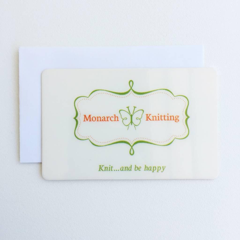 print at home gift certificate monarch knitting