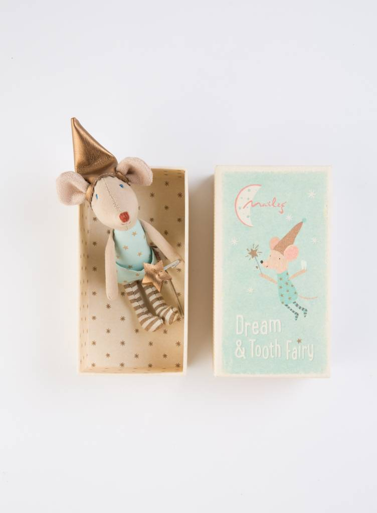 Maileg Tooth Fairy Mouse in Box, Boy, TU