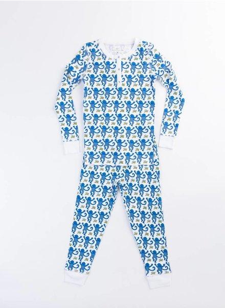Roberta Roller Rabbit Pajama Set Blue Monkey