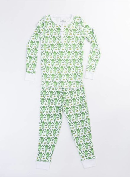 Roberta Roller Rabbit Pajama Set Green Monkey
