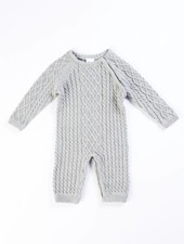 EGG Grey Classic Cable Layette