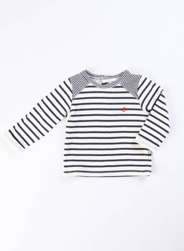 Petit Bateau Long Sleeve Striped Shirt