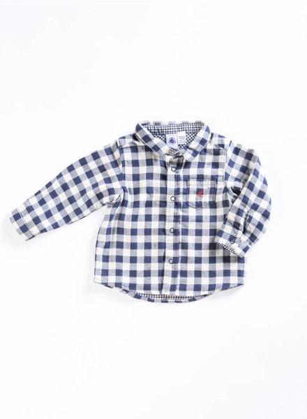 Petit Bateau Checkered Button Down Shirt