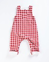 Petit Bateau Red and Grey Checked Overalls