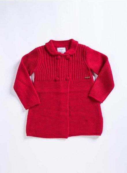Mayoral Baby Crimson Knit Coat
