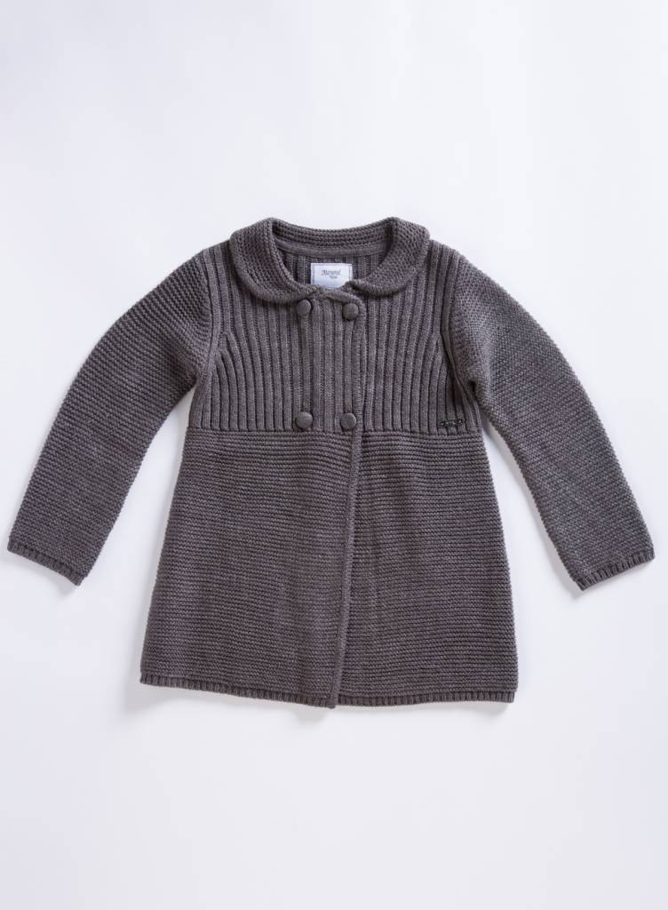 Mayoral Grey Knit Coat