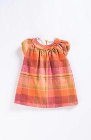 Mayoral Pumpkin Flannel Dress