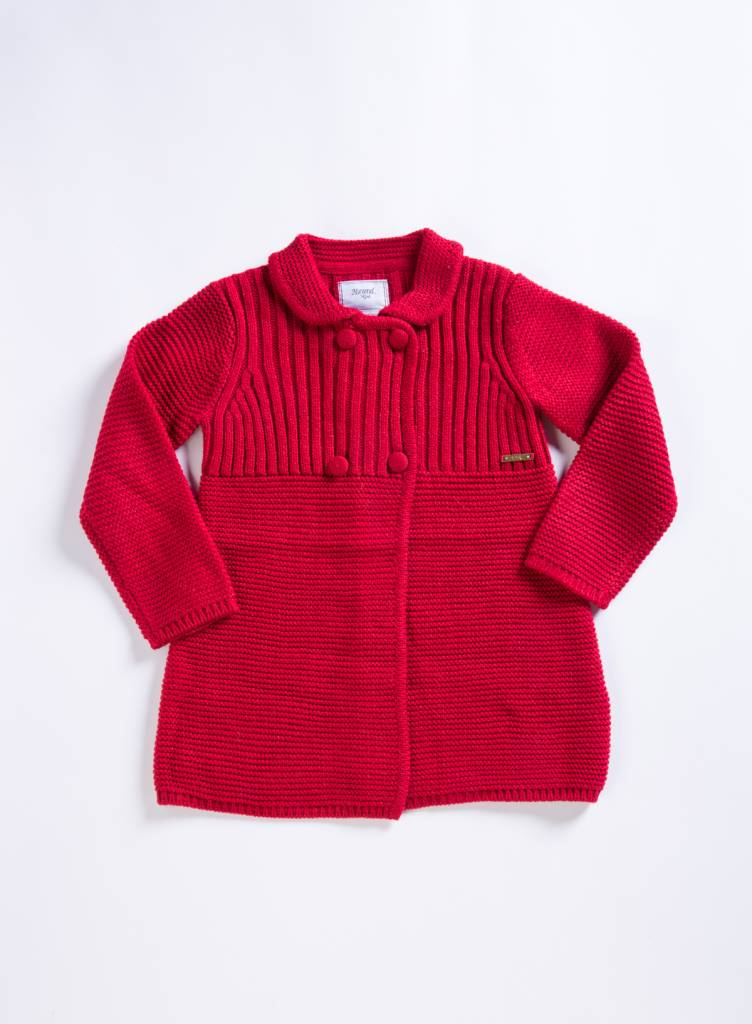Mayoral Crimson Knit Coat