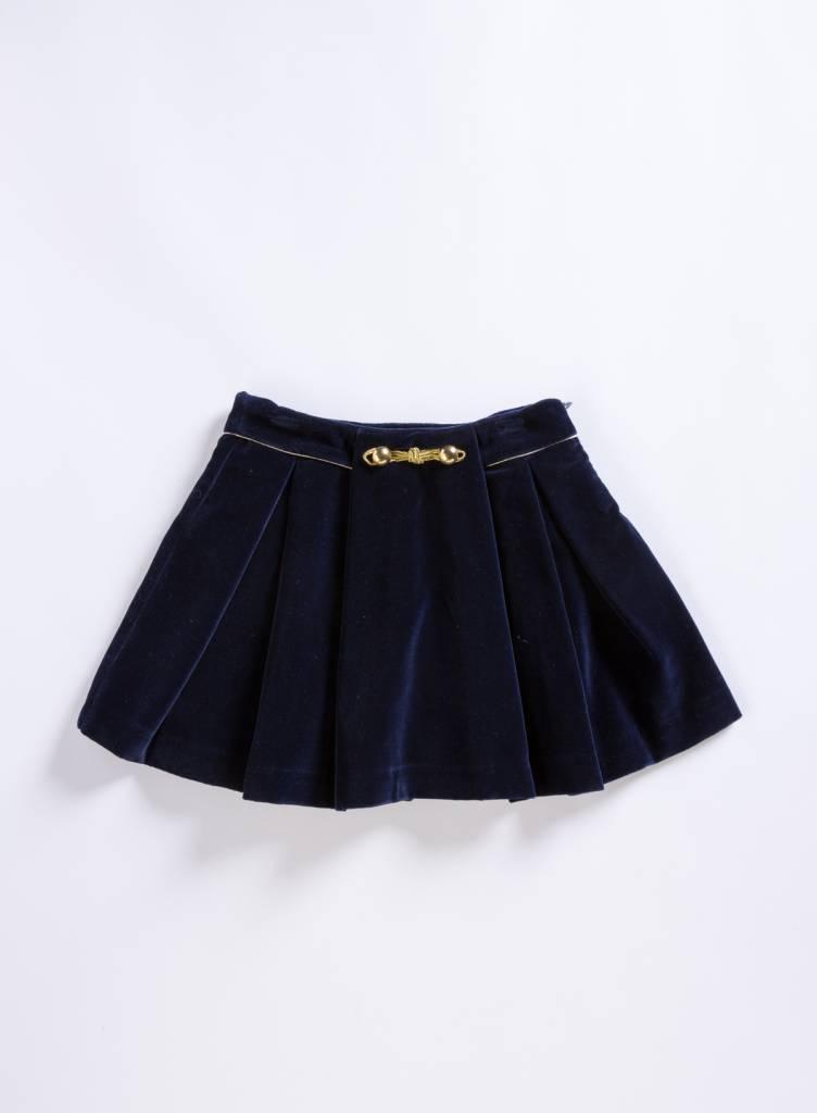 Patachou Navy Velvet Skirt