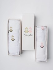 Les Lutins Swaddling Blanket and Bib Box Gift Set