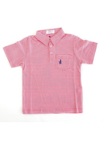 Johnnie-O Johnnie-O Watermelon Striped Polo