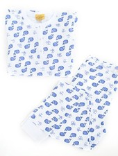 Roberta Roller Rabbit Pajama Set Blue Moby
