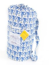 Roberta Roller Rabbit Blue Monkey Sleepover Bag