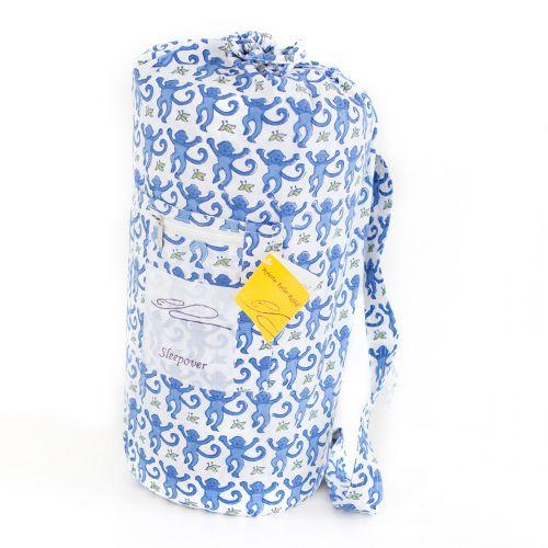 Roberta Roller Rabbit Blue Monkey Sleepover Bag