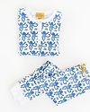 Roberta Roller Rabbit Pajama Set Blue Monkey