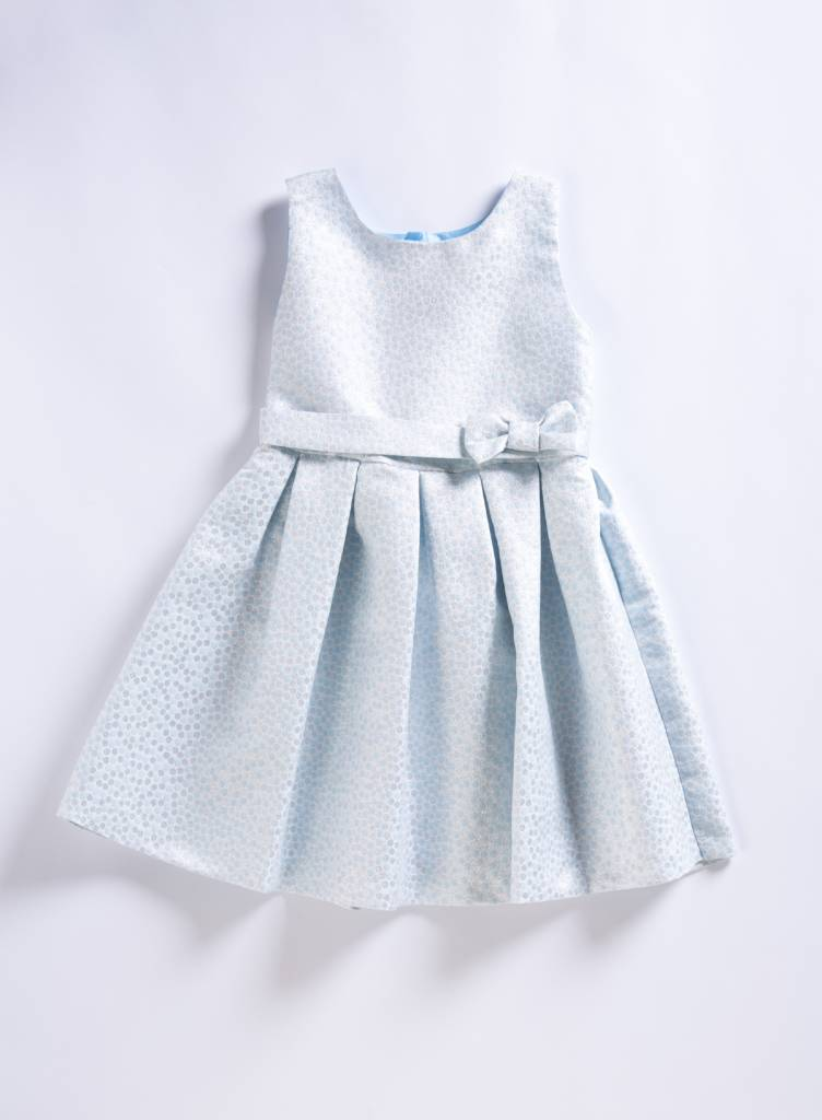 Holly Hastie Blue Jacquard Dress