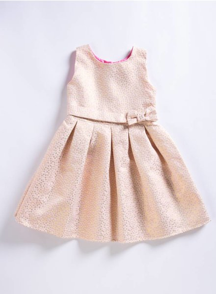 Holly Hastie Pink Jacquard Dress