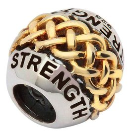 "Celtic Intricate Knot Work ""Strength"" Bead"