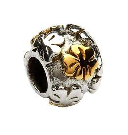 14kt Gold Plated Shamrock Bead