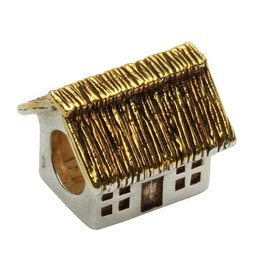 Irish Cottage Silver 14kt Gold Plate Bead