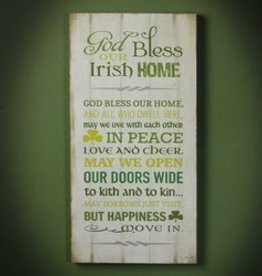 Irish Home Plaque