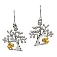 Tree Of Life Shamrock Earrings