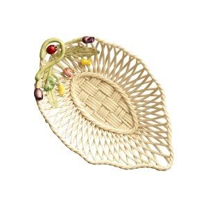 Rose Bud Leaf Basket