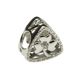 Diamond Set Shamrock Triangle Bead