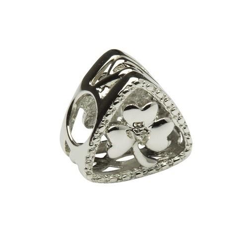 Diamond Set Shamrock Triangle Bead