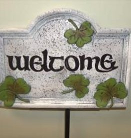 Large Shamrock Welcome Garden Stake