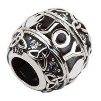Silver Celtic Trinity Bead