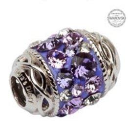 Celtic Knot Bead Embellished w/ Violet Swarovski Crystals