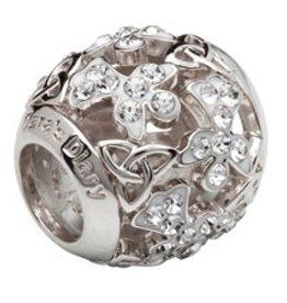 Sterling Silver Trinity Angel Bead w/ Swarovski Crystals