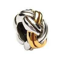 Silver Celtic Weave Bead