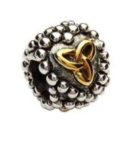 Silver Celtic Trinity Beaded Heart Bead