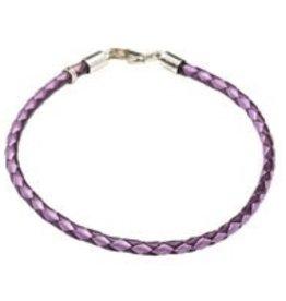 """Purple Leather Bracelet 7"""""""