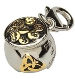 Celtic Trinity Pot of Gold Charm