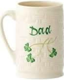 "Belleek Shamrock ""Dad"" Mug"