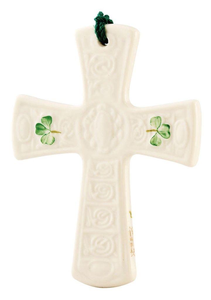 Belleek Saint Patrick's Cross Ornament