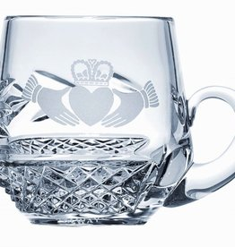 Galway Crystal Claddagh Christening Mug
