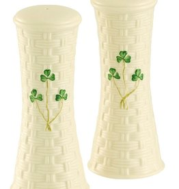 Belleek Shamrock Large Salt & Pepper