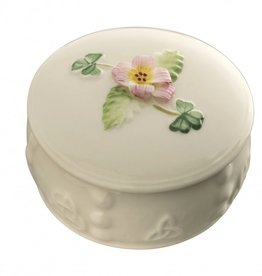 Belleek Freesia Trinket Box