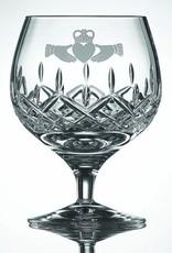 Galway Crystal Claddagh Brandy Pair