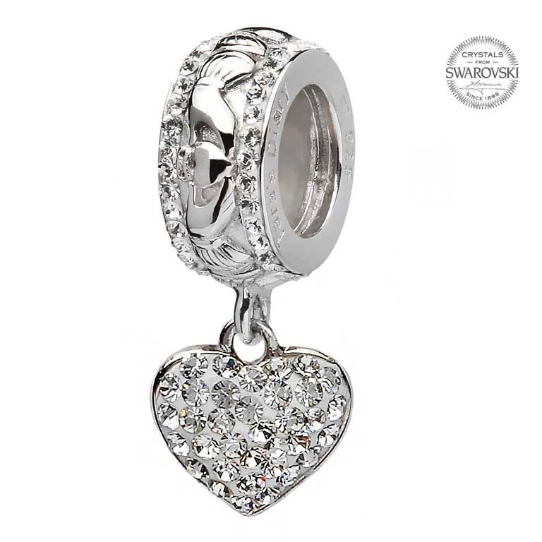 Origin SS SW Heart Dangle Bead
