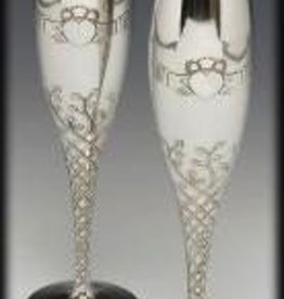 "Claddagh Champagne Flute Set (10"" high)"