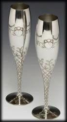 "Claddagh Champagne Flute Set (10"" high)"